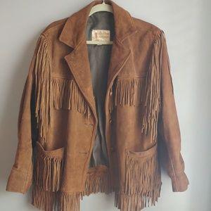 Jackets & Blazers - Vintage Real Suede Fringe Coat